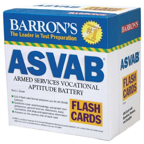 9780764197833: Barron's ASVAB Flash Cards: Armed Services Vocational Aptitude Battery