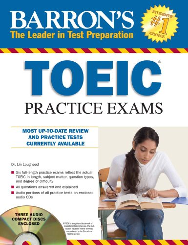 9780764197840: Barron's TOEIC Practice Exams with 4 Audio CDs