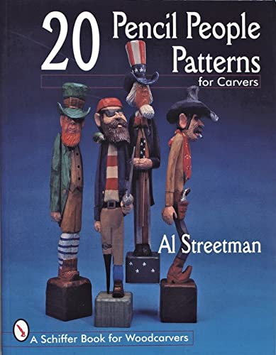 9780764300349: 20 Pencil People Patterns for Carvers