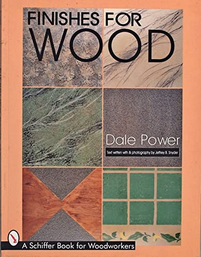 9780764303388: Finishes for Wood (Schiffer Book for Woodworkers)