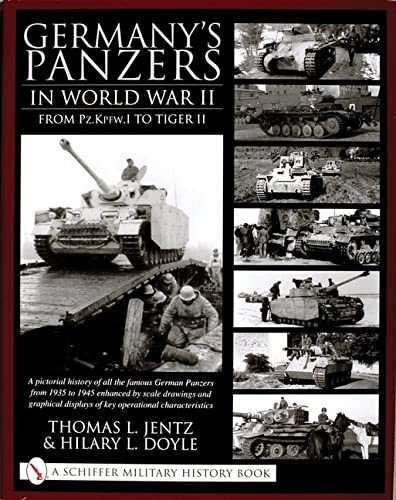 9780764314254: Germany's Panzers in World War II: From Pz.Kpfw.I to Tiger II: A Pictorial History of All the Famous German Panzers from 1935 to 1945 Enhanced by Scal