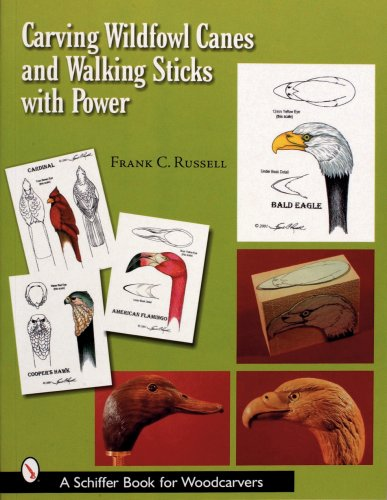 9780764315893: Carving Wildfowl Canes and Walking Sticks with Power (Schiffer Book for Woodcarvers)