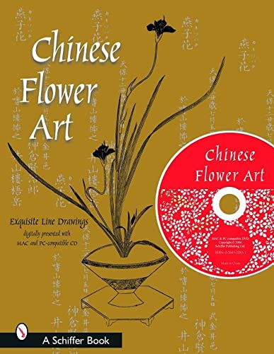 9780764320835: Chinese Flower Art: Line Drawings With Cd