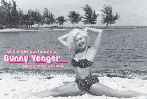 Bikini Girl Postcards by Bunny Yeager: Shore: Yeager, Bunny