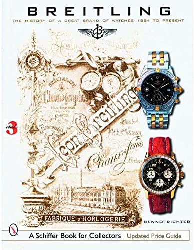Breitling: The History of a Great Brand of Watches 1884 to the Present 9780764326707 Breitling. One watch has made this name famous worldwide, the Navitimer. In 1952 this watch was a real sensation, the chronograph along with the calculator made it possible for the pilot to carry out all necessary calculations during the flight. This made the Navitimer a valuable on-board instrument at that time, and a valuable collectible today. This newly revised book shows the whole spectrum of the firm's products since its founding in 1884, and gives the reader an informed insight into more than 100 years of the firm's history. Many photos, old catalogs, and advertising material support the informative text. With the help of reference numbers, the collector can also locate individual watches chronologically. This fascinating portrait of the Breitling firm will enthrall all who appreciate fine mechanical precision.