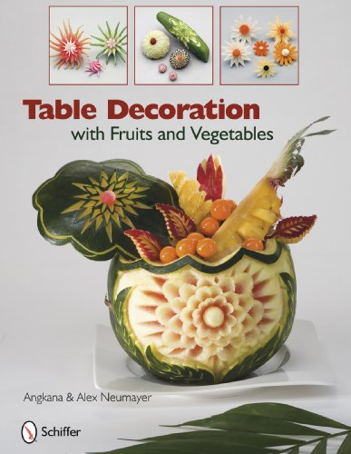 Table Decoration with Fruits and Vegetables: Angkana And Alex Neumayer