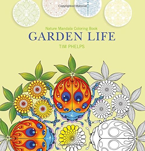 Garden Life Nature Mandala Coloring Book