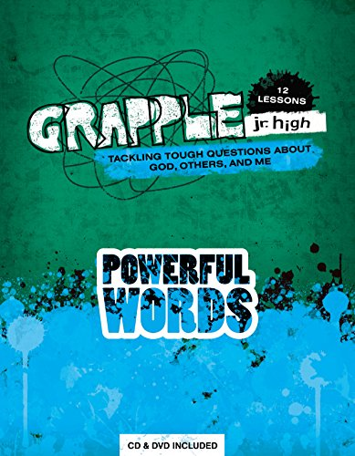 9780764475467: Grapple Jr. High: Powerful Words: 12 Lessons on Tackling Tough Questions About God, Others, and Me