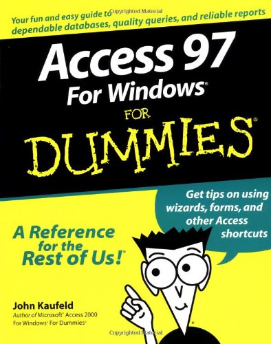 9780764500480: Access 97 for Windows For Dummies