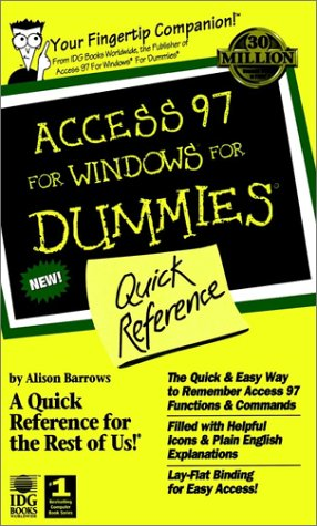 9780764500565: Access 97 for Windows for Dummies Quick Reference