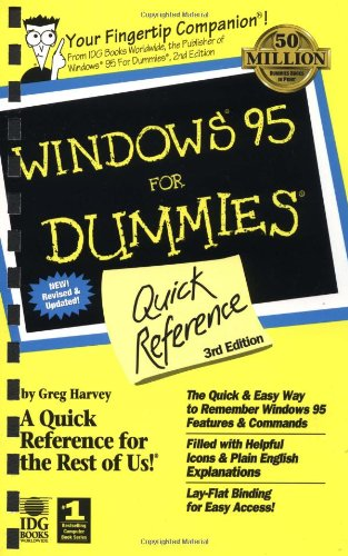 9780764501838: Windows 95 For Dummies: Quick Reference (For Dummies: Quick Reference (Computers))