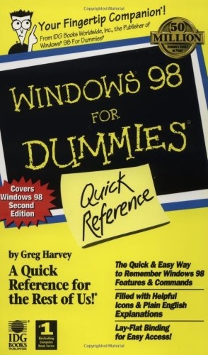 Windows 98 For Dummies: Quick Reference (For Dummies: Quick Reference (Computers)) (0764502549) by Greg Harvey