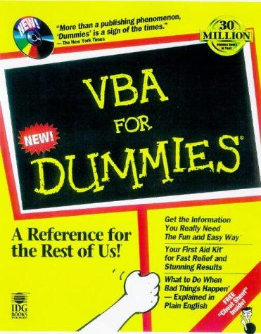 9780764502583: Vba for Dummies
