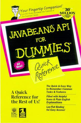 9780764502965: Javabeans Api for Dummies Quick Reference