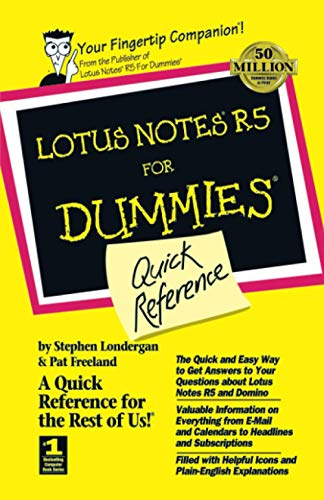 9780764503191: Lotus Notes R5 For Dummies Quick Reference (For Dummies Series)