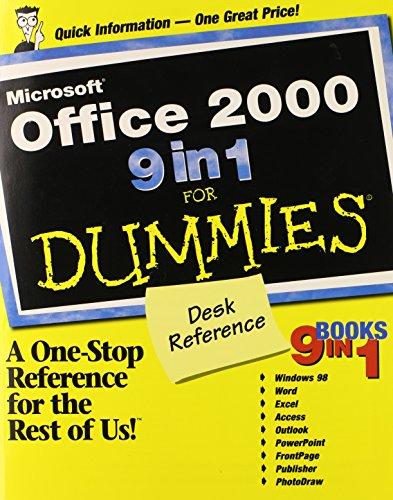 Microsoft Office 2000 9 in 1 For Dummies Desk Reference (0764503332) by Harvey, Greg; Weverka, Peter; Walkenbach; Barrows, Alison; Dyszel, Bill; McCue, Camille; Dean, Damon; McCarter, Jim; Musick, Lee