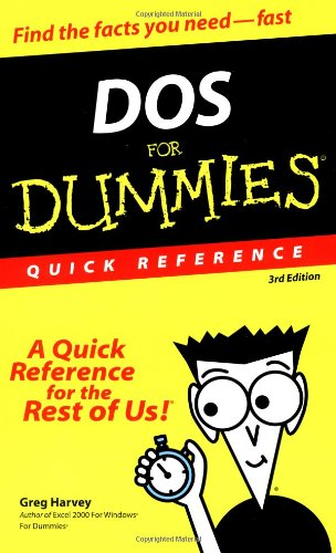 9780764503689: DOS For Dummies Quick Reference