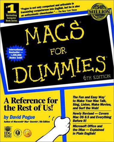 9780764503986: Macs For Dummies
