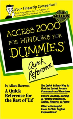 9780764504457: Access 2000 for Windows For Dummies Quick Reference