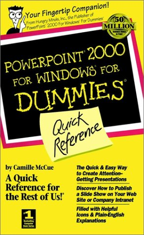 PowerPoint 2000 For Windows For Dummies Quick Reference (For Dummies Series) (0764504517) by Camille McCue