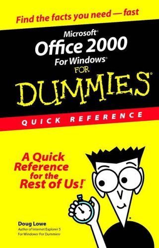 9780764504532: Microsoft Office 2000 for Windows For Dummies: Quick Reference