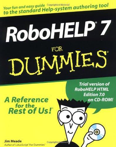 RoboHELP 7 for Dummies: Meade, Jim