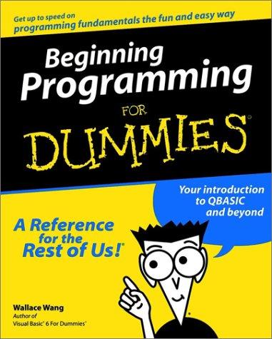 9780764505966: Beginning Programming For Dummies?