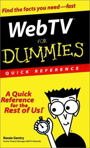 9780764506987: Web TV For Dummies Quick Reference