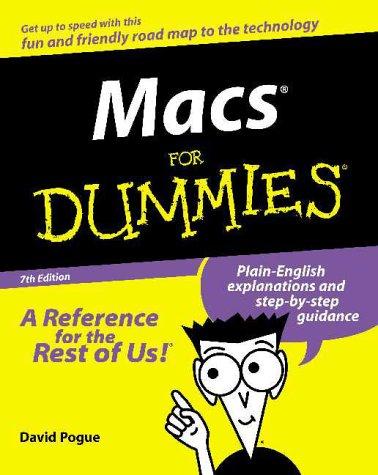 9780764507038: Macs For Dummies