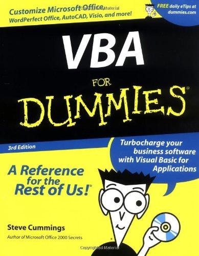 9780764508561: VBA For Dummies