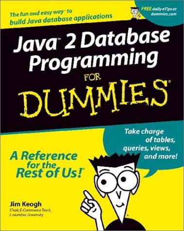 9780764508813: Java 2 Database Programming For Dummies