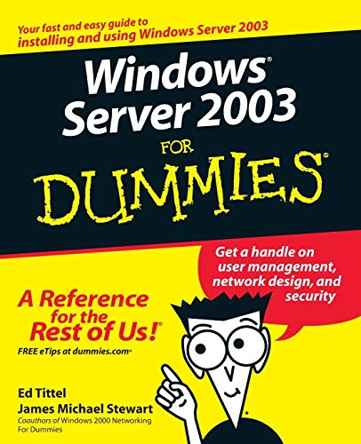 9780764516337: Windows Server 2003 For Dummies