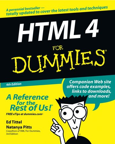9780764519956: HTML 4 For Dummies (For Dummies (Computer/Tech))