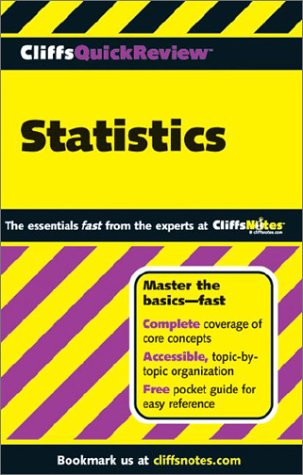 9780764523922: Cliffsquickreview<sup(t )-Sup> Statistics [Unbound] by