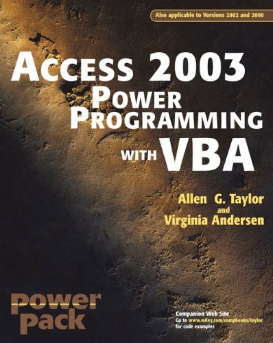 9780764525889: Access 2003 Power Programming With Vba