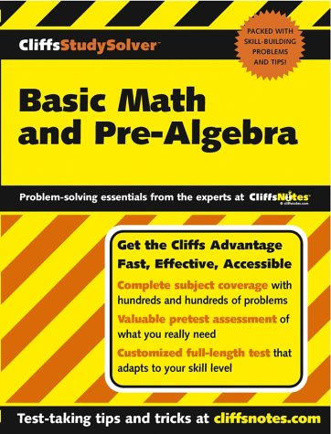 9780764537646: CliffsStudySolver Basic Math and Pre-Algebra