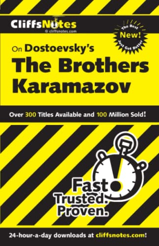 CliffsNotes on Dostoevsky's The Brothers Karamazov, Revised Edition (CLIFFSNOTES LITERATURE) (0764538136) by James L Roberts; Gary K Carey