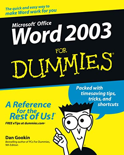9780764539824: Word 2003 for Dummies