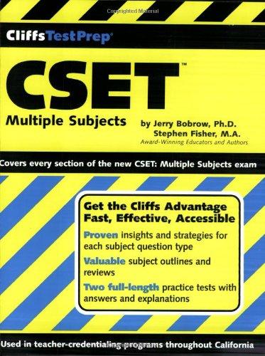 9780764539831: Cliffstestprep Cset: Multiple Subjects