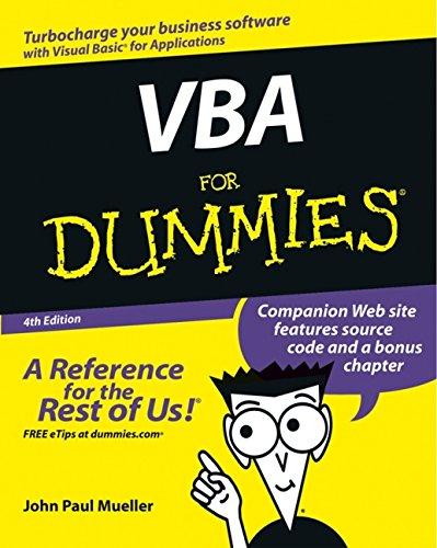 9780764539893: Vba for Dummies