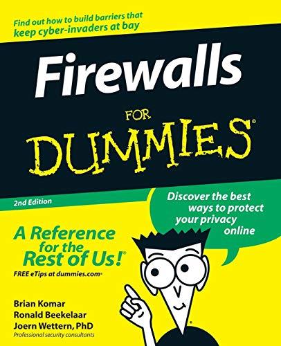 9780764540486: Firewalls for Dummies