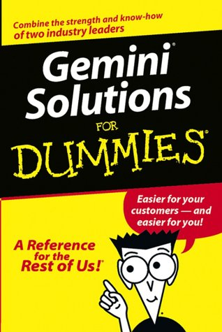 9780764540493: Gemini Solutions For Dummies