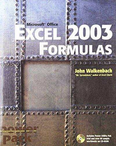 9780764540738: Excel 2003 Formulas