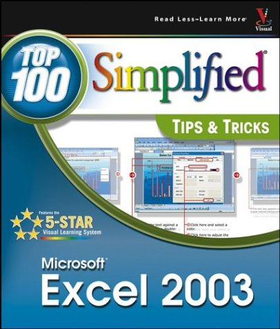 9780764541322: Excel 2003: Top 100 Simplified Tips and Tricks (Top 100 Simplified: Tips & Tricks)