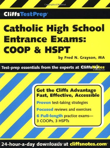 9780764541698: CliffsTestPrep Catholic High School Entrance Exams