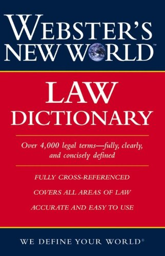 9780764542107: Webster's New World Law Dictionary