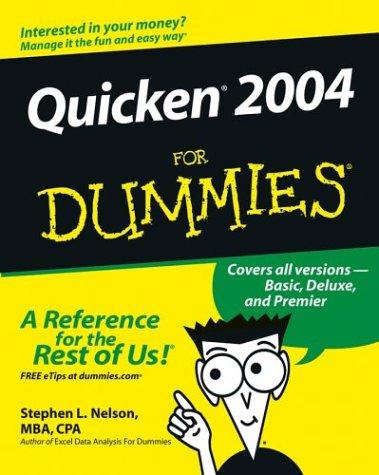 9780764542343: Quicken 2004 For Dummies