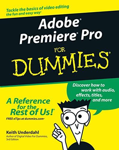 9780764543449: Adobe Premiere Pro For Dummies