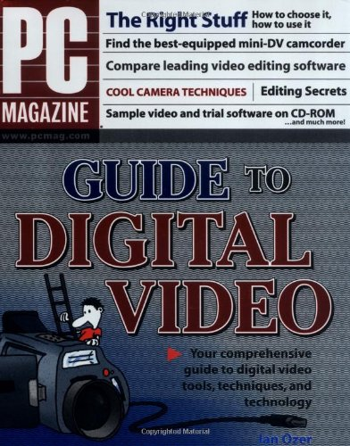 PC MagazineGuide to Digital Video 9780764543609 What does it take to make great digital video? The right equipment, the right skills, and Jan Ozer's advice. PC Magazine's digital video authority delivers the details that will help you make videos you can be proud of. Here's the lowdown on which camera to choose (and why), how to shoot the best footage, how to capture the best sound, how to get your video from the camera to your computer, what to do when you get it there, and how to produce a showstopper from start to finish. Author Jan Ozer offers expert advice on: Deciding what you do and don't need in a digital camcorder Selecting a DV or analog capture solution Picking the perfect video editor Getting the right DVD-authoring package and recorder Shooting terrific footage and capturing sound that's just right Outputting your project in various formats And producing professional-quality DVDs The book's CD-ROM includes audio and video files comparing consumer and prosumer camcorders and demonstrating techniques like noise removal; MyDV D, Pinnacle Studio, Ulead Video Studio, RealONE Player, muvee auto Producer trial versions, and more.