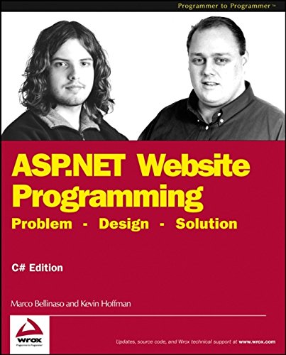 9780764543777: ASP.NET Website Programming: Problem - Design - Solution: Problem - Design - Solution - Written and Tested for Final Release of .NET V.1.0: C#Edition (Programmer to Programmer)